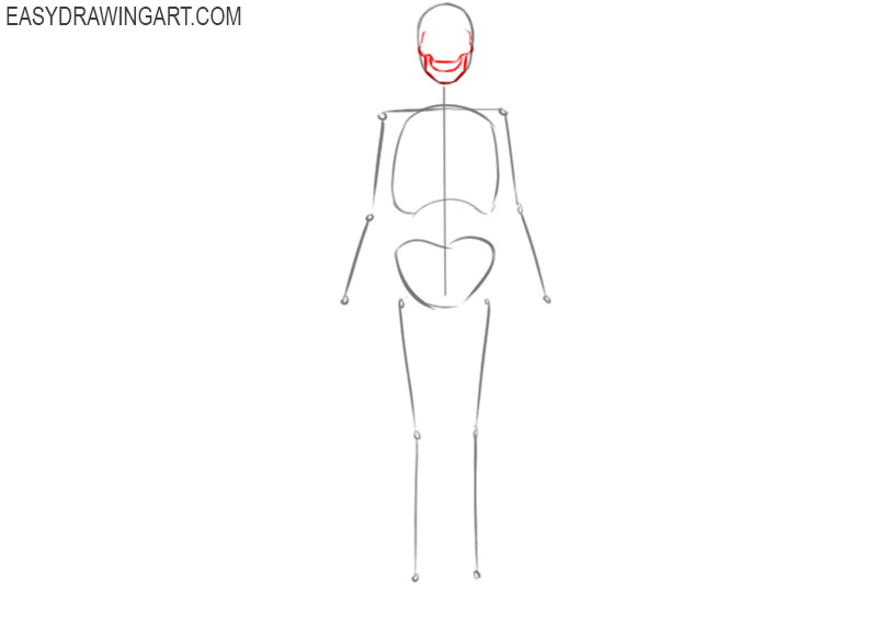 how to draw a skeleton for halloween