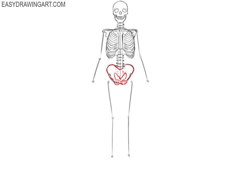 how to draw a skeleton images