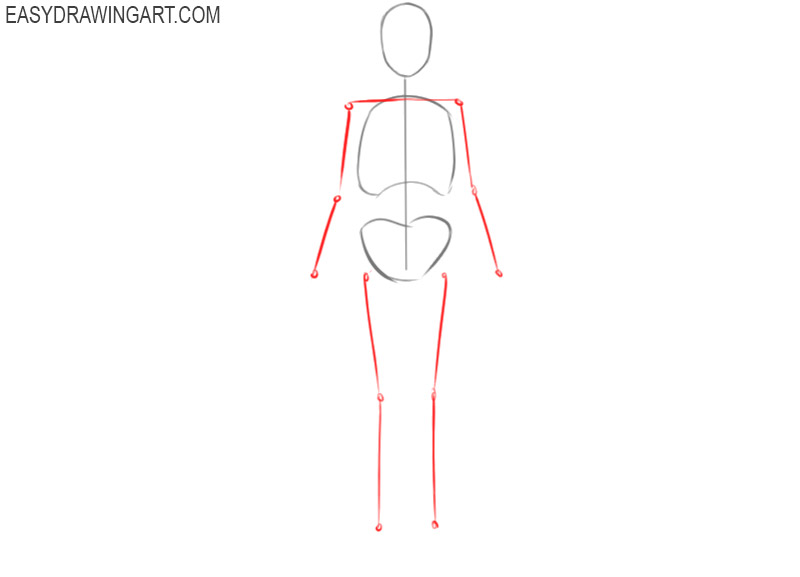 how to draw a skeleton of a human