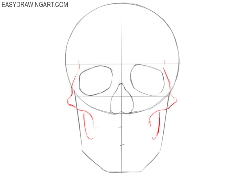 how to draw a skull basic