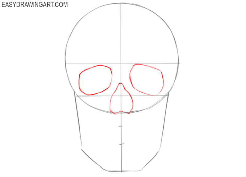 how to draw a skull beginner