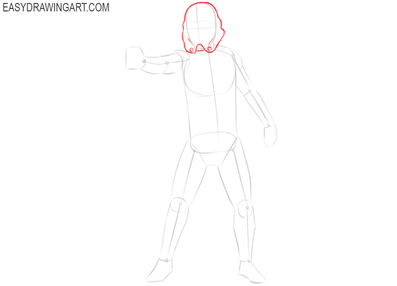 how to draw a stormtrooper easy