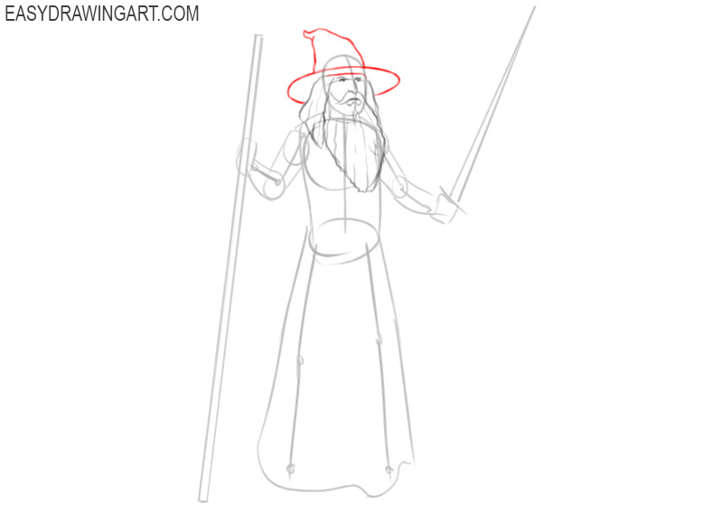 how to draw a wizard easy steps