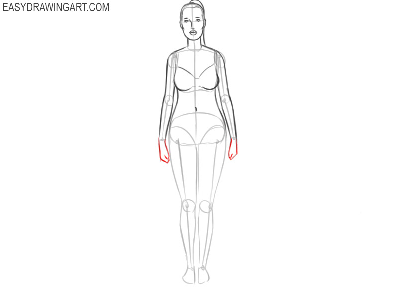 how to draw a woman body ea
