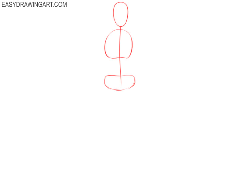 how to draw a woman easy