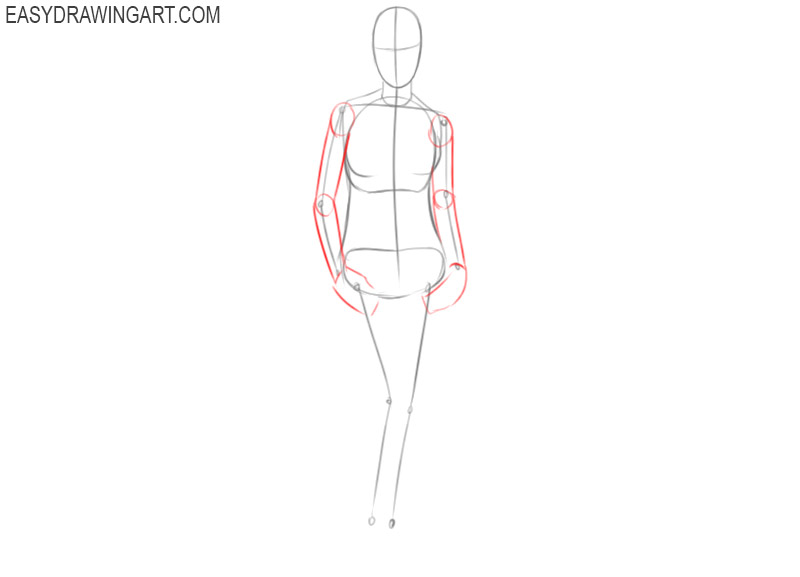 how to draw a woman standing