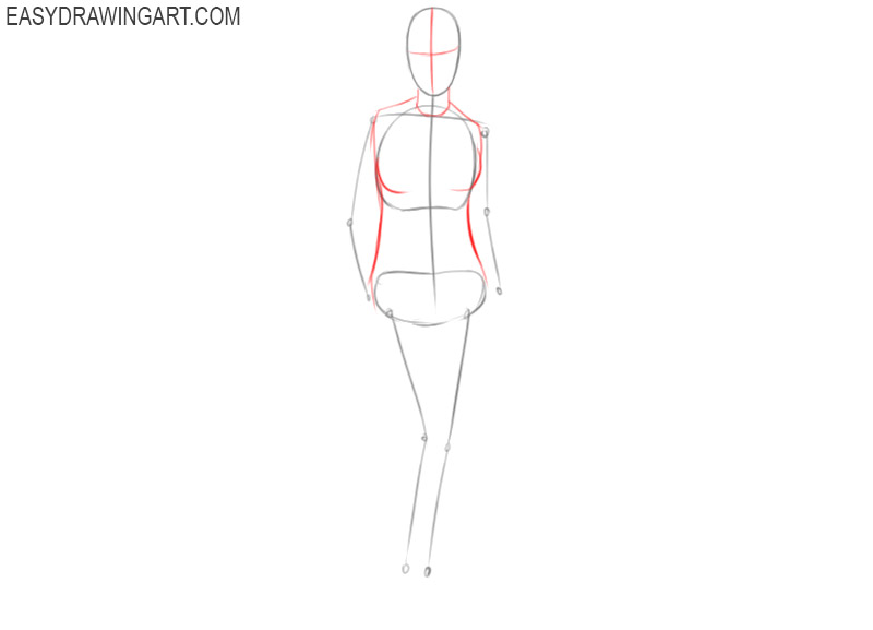 how to draw a woman step by step
