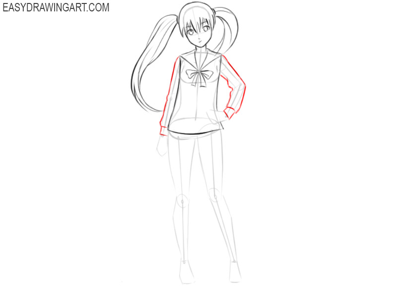 how to draw an anime little girl step by step