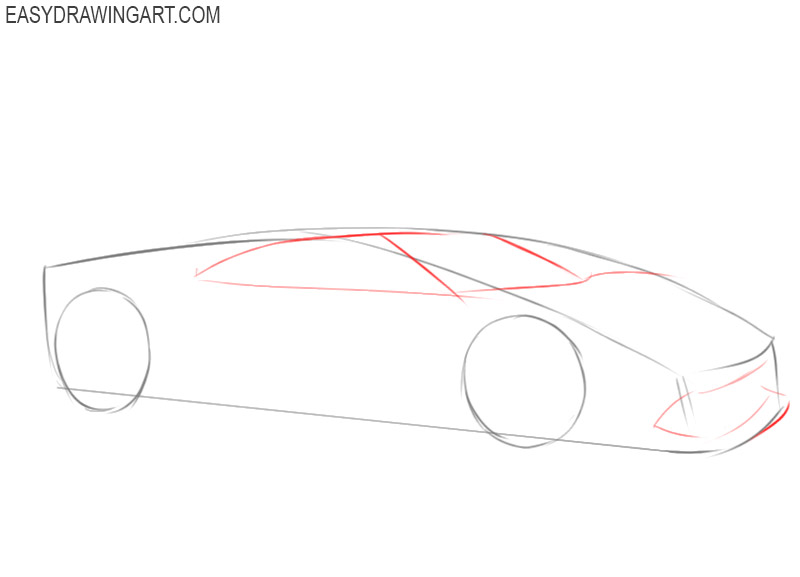 how to draw an easy ferrari