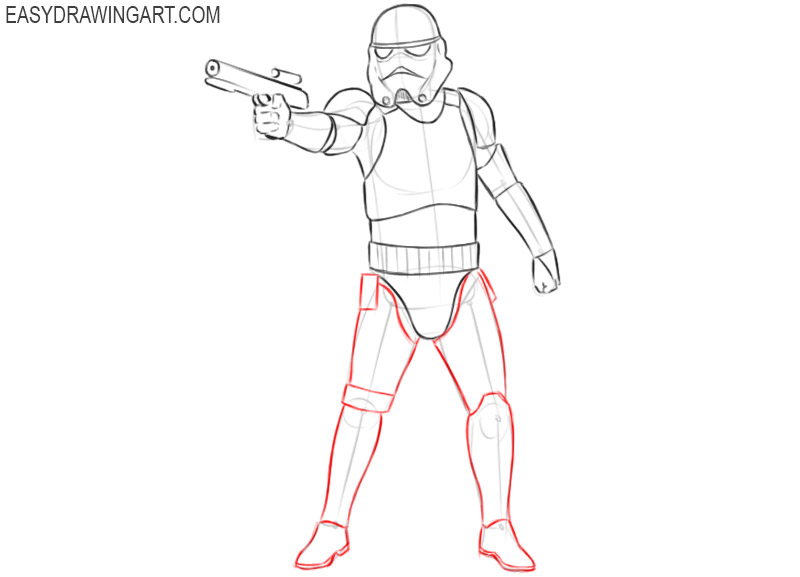 how to draw an imperial stormtrooper