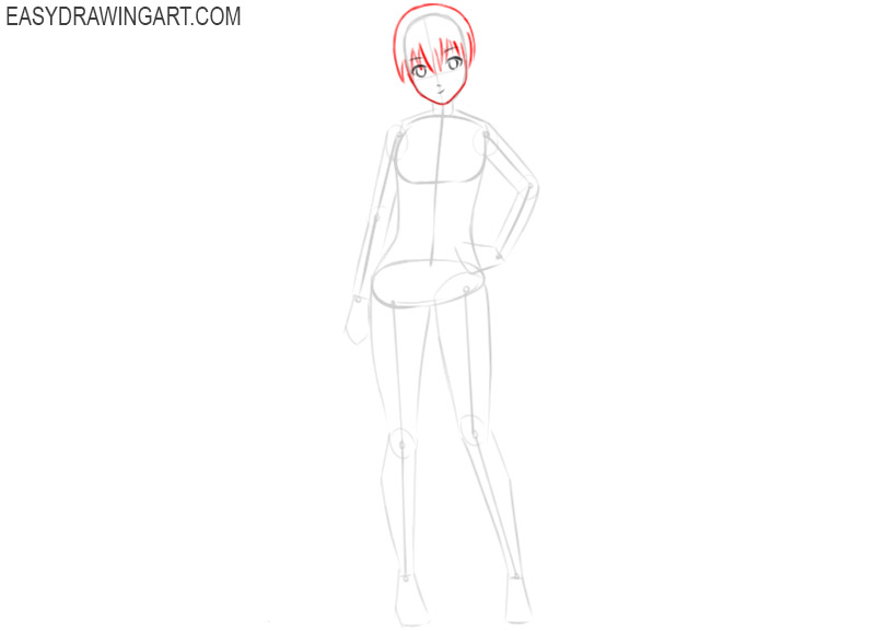 how to draw anime girl images