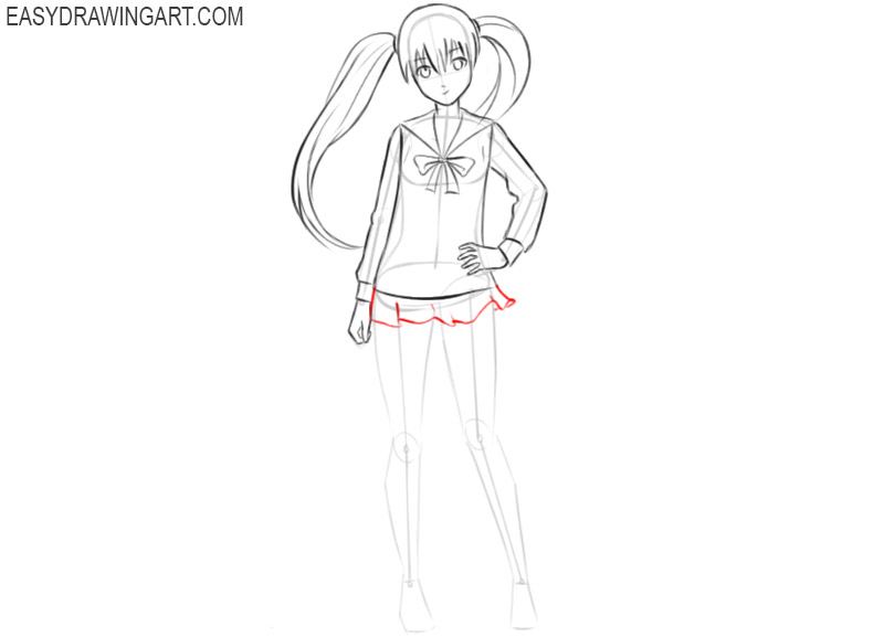 how to draw anime girl pictures