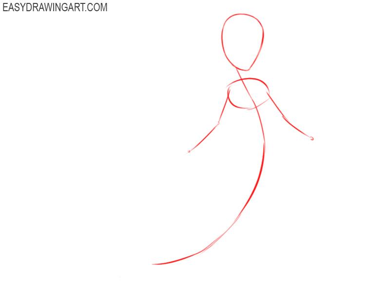how to draw ariel step by step
