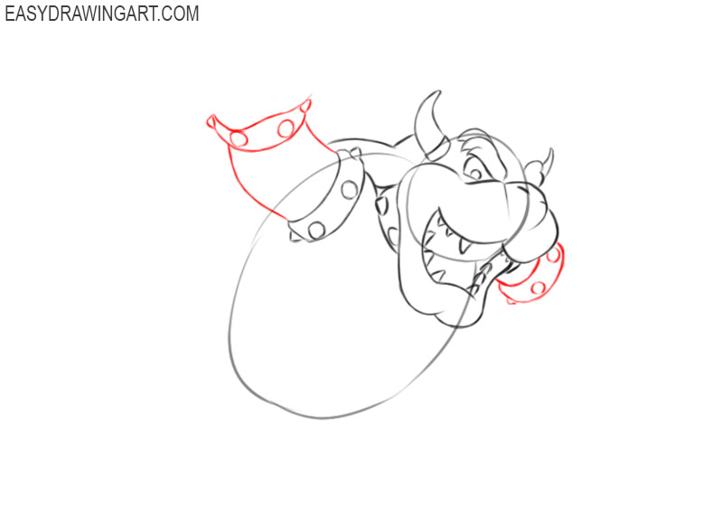 how to draw bowser step by step