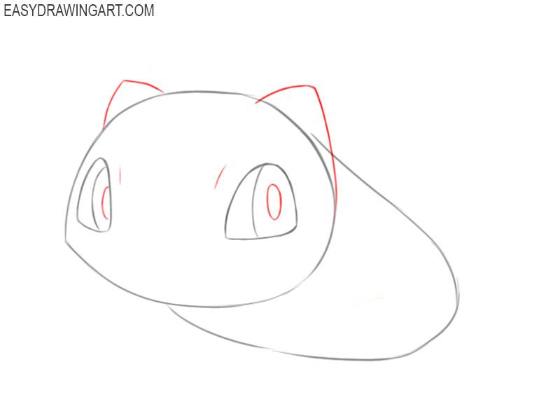 how to draw bulbasaur cute