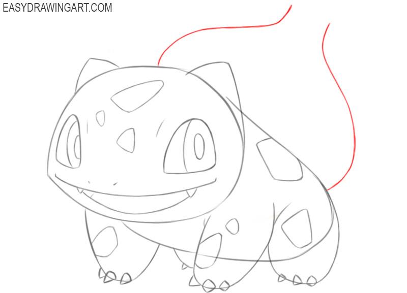 how to draw bulbasaur easily