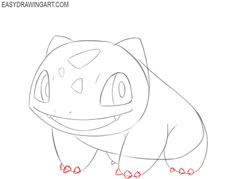 how to draw bulbasaur easy drawing
