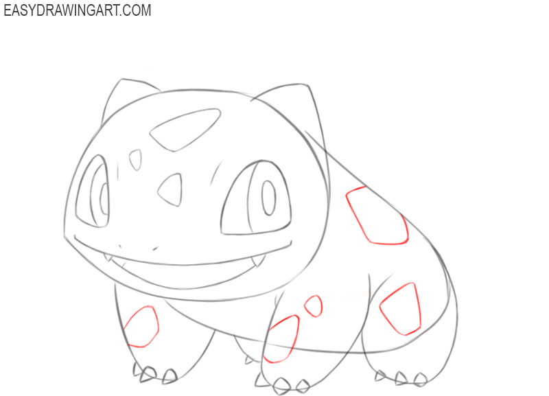 how to draw bulbasaur easy