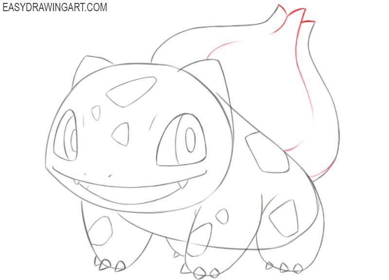 how to draw bulbasaur pokemon