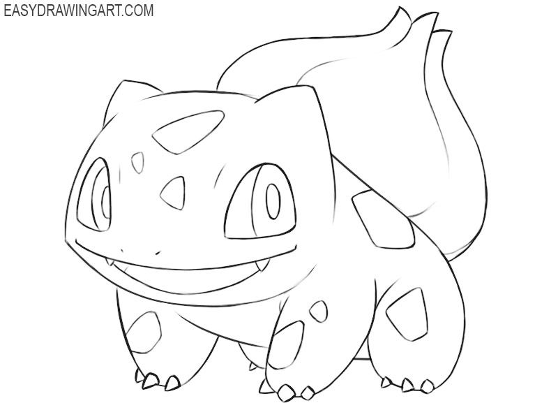 how to draw bulbasaur the pokemon