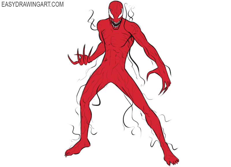 how to draw carnage