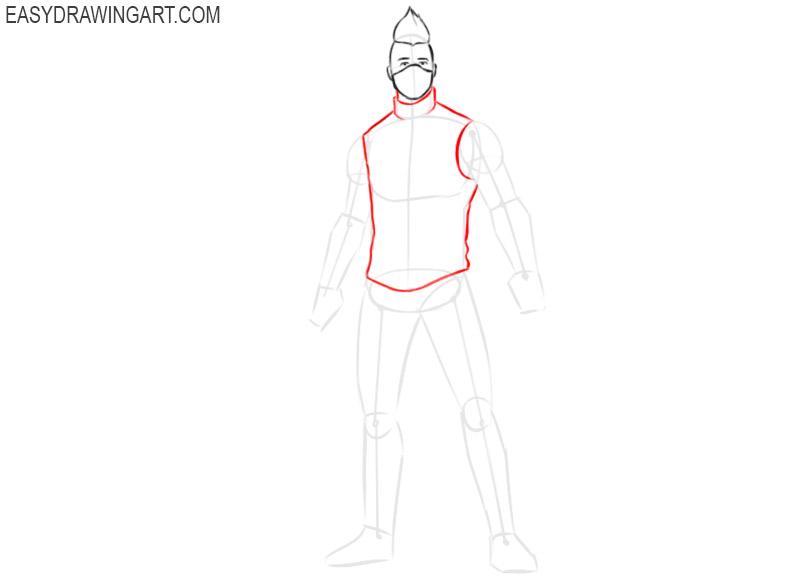 how to draw cartoon fortnite drift