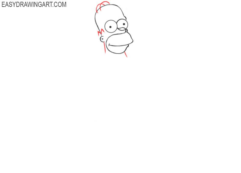 how to draw cartoon homer simpson