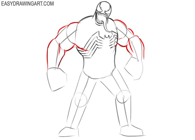 how to draw classic venom