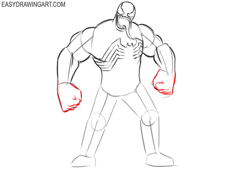 how to draw cool venom