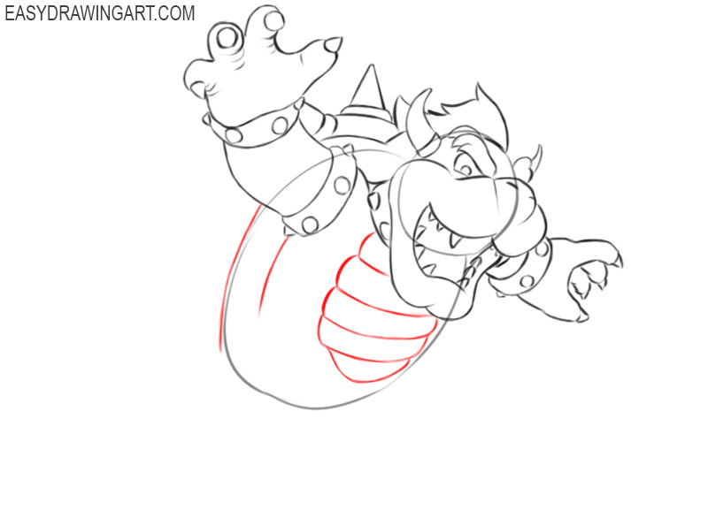 how to draw cute bowser