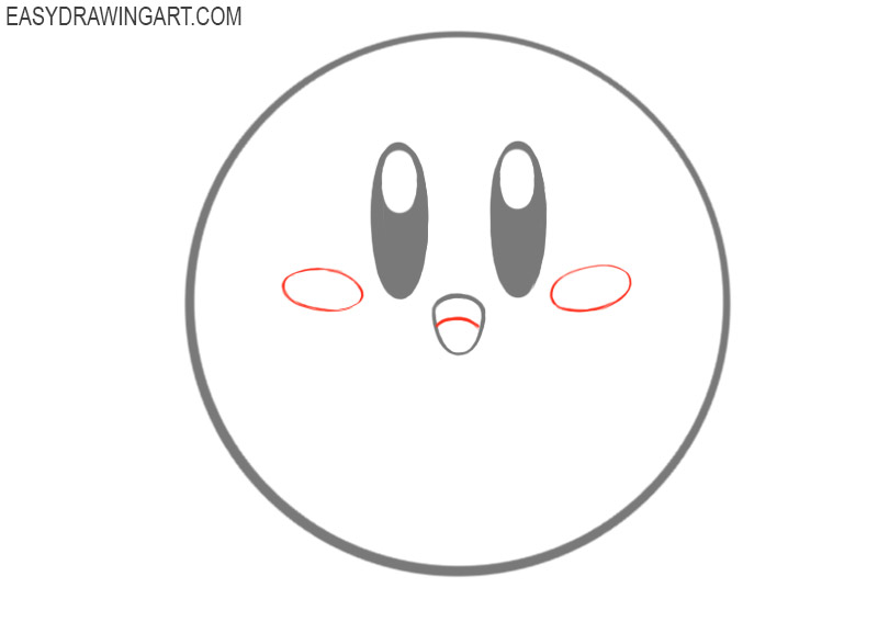 how to draw cute kirby