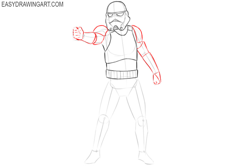 how to draw darth vader stormtrooper