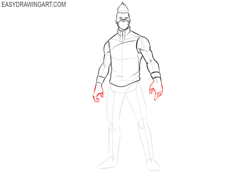 how to draw drift fortnite easy step by step