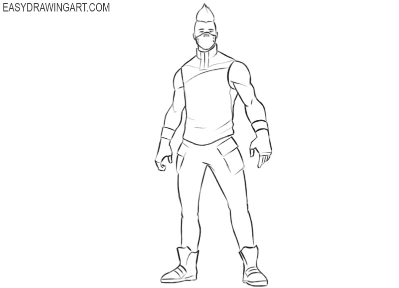 how to draw drift in fortnite easy