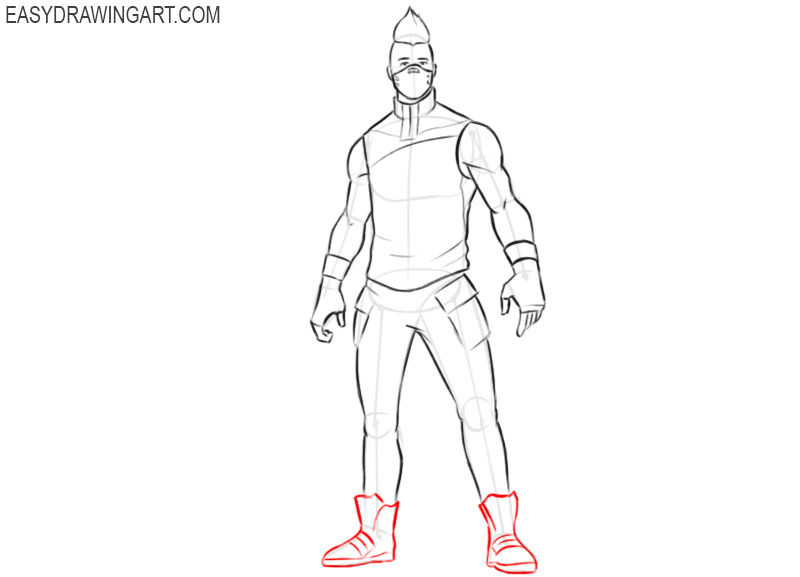 how to draw drift in fortnite step by step