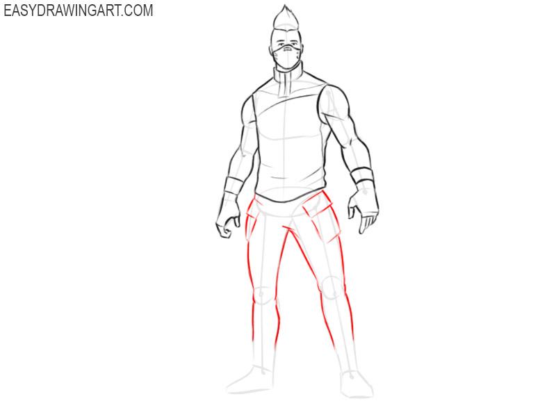 how to draw fortnite drift mask easy