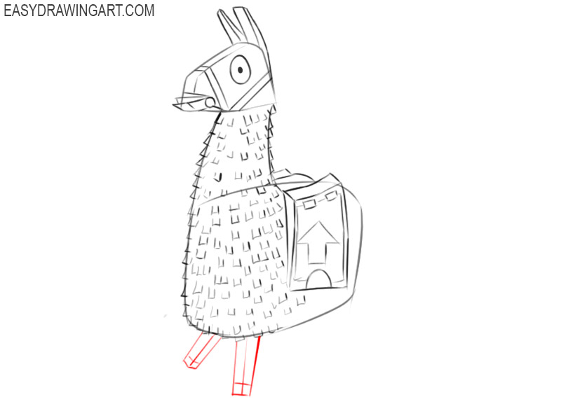 how to draw fortnite llama easy step by step