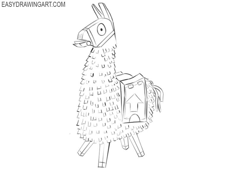 how to draw fortnite loot llama easy