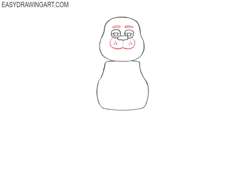 how to draw freddy fazbear full body