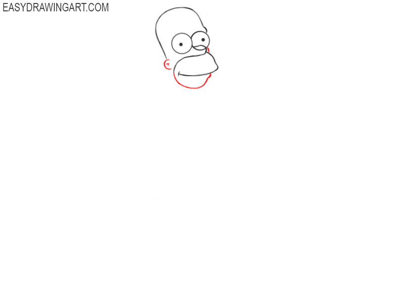 how to draw homer simpson step by step easy