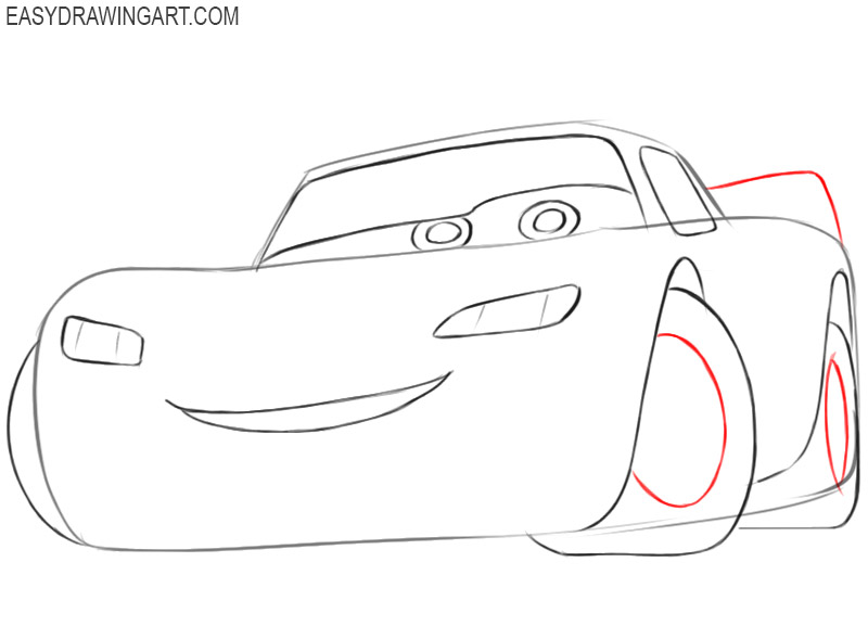 how to draw lightning mcqueen cars 1