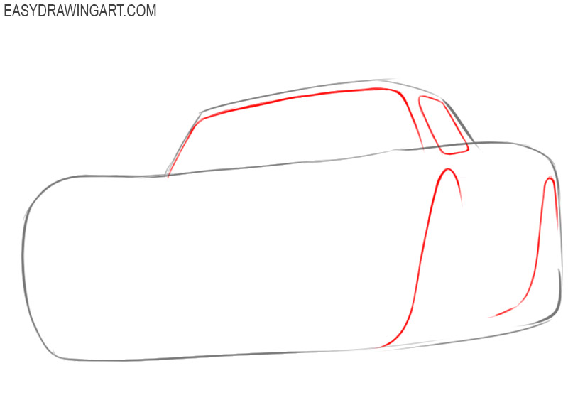 how to draw lightning mcqueen easy