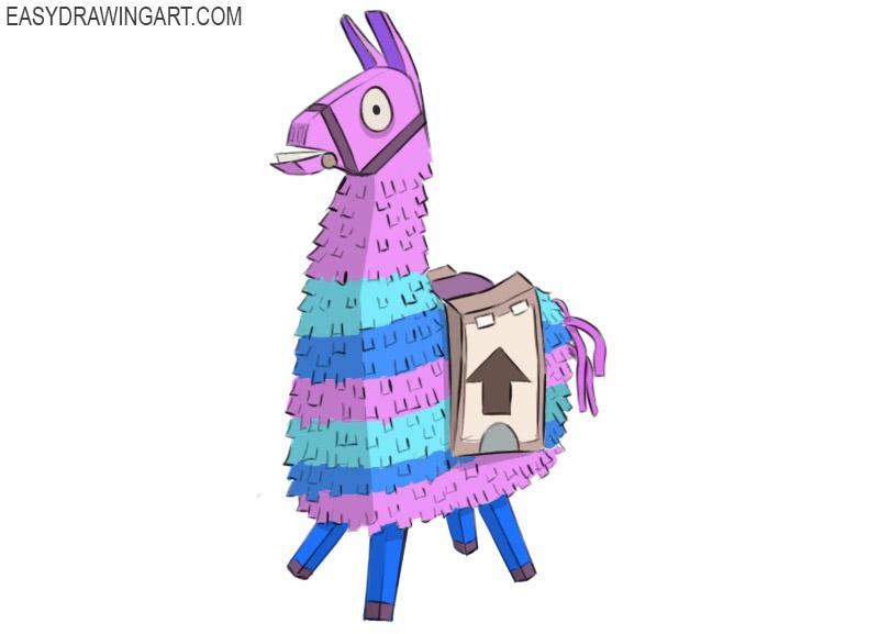 how to draw llama fortnite