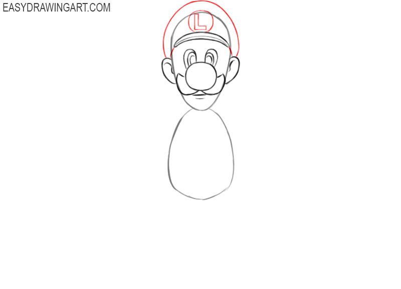 how to draw luigi from mario