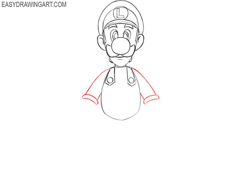 how to draw luigi mario