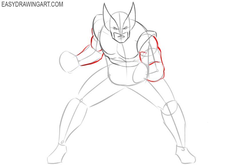 how to draw marvel wolverine step by step