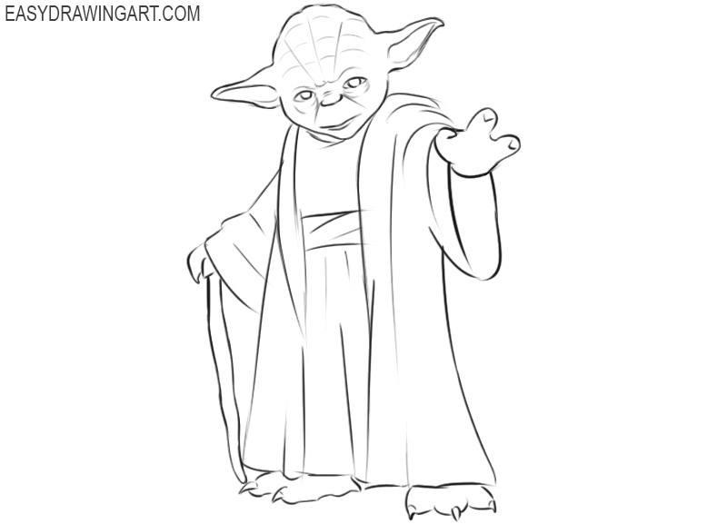 how to draw master yoda