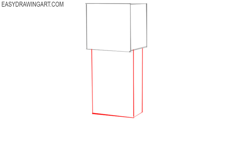how to draw minecraft creeper easy