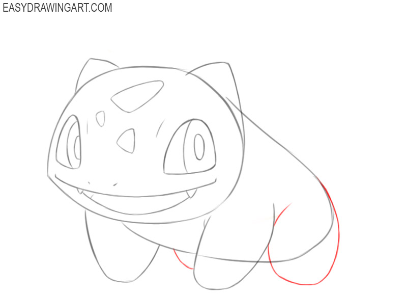 how to draw pokemon bulbasaur step by step