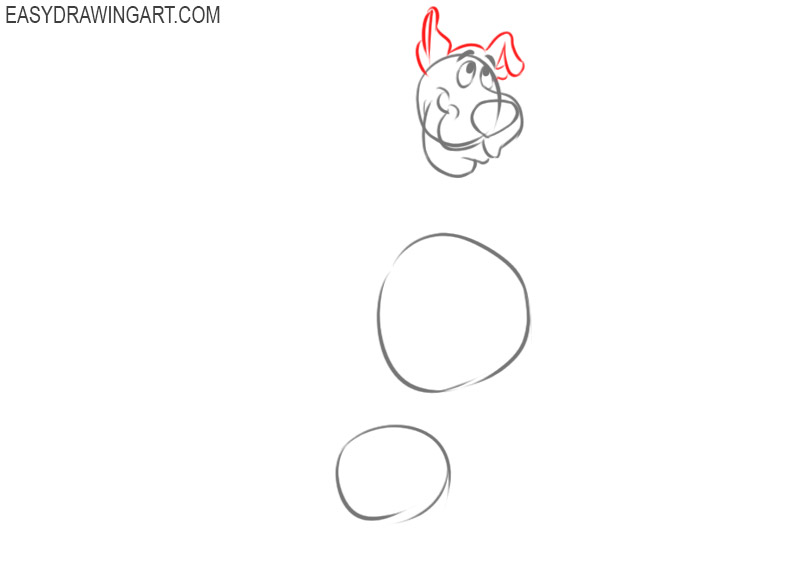 how to draw scooby doo full body step by step